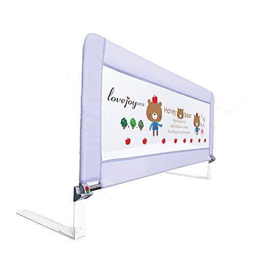 Bettgitter- 70cm hohes Sicherheits-Bett-Schienen-Schutz für Kind und Kleinkind, justierbares bewegliches Leitschiene für Krippe/Plattformbett / -Latte, (1 Seite) (größe : 80cm) -