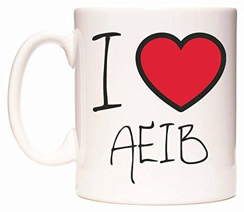 I Love AEIB Becher von WeDoMugs