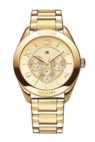Tommy Hilfiger Damen-Armbanduhr Sport Luxery Analog Quarz Edelstahl beschichtet 1781214 (Watch Frauen Von Tommy Hilfiger)