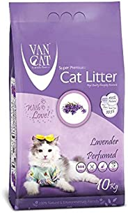 Van Cat 10 kg Lavender Perfumed White Bentonite Clumping Cat Litter