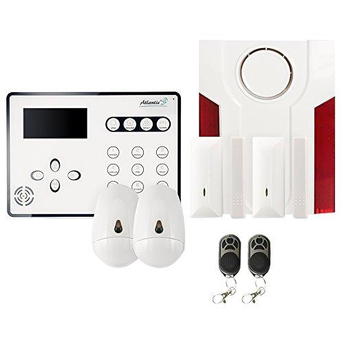 Atlantic'S Alarme Maison sans Fil GSM ATEOS Kit 3, Blanc