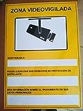 Camtronics Cartel CCTV, Cartel de plástico Exterior Serigrafiado según normativa LOPD