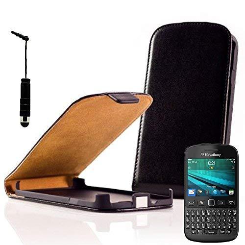 VCOMP Hülle Cover Etui klappbar in Kunstleder für BlackBerry 9720/9720 Samoa - schwarz1 + Mini-Eingabestift