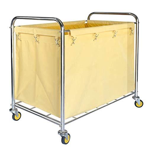 Caoyuymx lavanderia passeggino, macchina per la pulizia del carrello per la pulizia delle auto in acciaio inox carrello portabiancheria