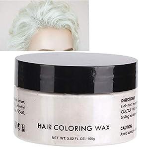 Cera para teñir el cabello, unisex desechable de varios colores modelado temporal moda bricolaje arcilla del color del pelo para la fiesta, Halloween, Cosplay(1#)