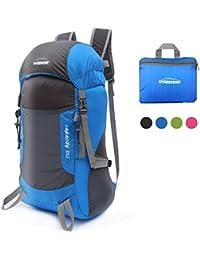 Overmont 35L mochila macuto de senderismo plegable portátil unisex para viaje excursión montañismo marcha ciclismo trekking