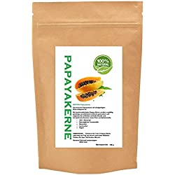 Papaya-Kerne. Papaya-Pfeffer, Papaya-Samen, natur schonend getrocknet, 150 g