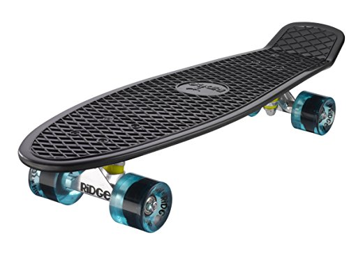 Ridge Skateboard Big Brother Nickel Mini Cruiser, schwarz/klar blau, 27 Zoll, PB-27