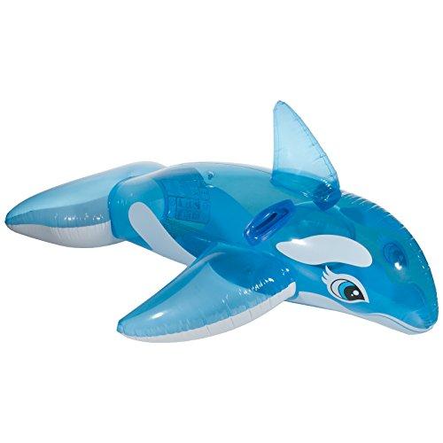 Gonfiabile balena orca gonfiabile da bagno animali equitazione floss isola galleggiante con robusta maniglie in blu/bianco per piscina mare mare