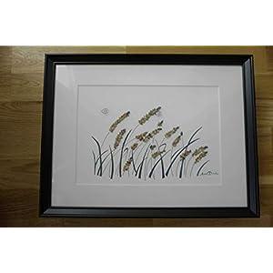 Kieselsteinkuns -Weizenfeld- reizendes und einzigartiges geburtstagsgeschenk, haus dekoration -Wheat field pebble art- lovely and unique birthday gift, home decoration-traNPHart gallery