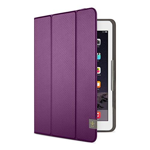Belkin Universal Trifold Schutzhülle (für Tablets, Apple iPad Air, iPad Air 2, iPad 2017, Samsung Galaxy Tab A (10 Zoll), S2 (10 Zoll)) lila