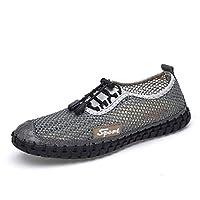Dongxiong Fashion sneakers men autumn walking shoes to sports shoes stitch Languedoc-toe slip breathable Jakkanapusu an elastic lock shoe laces casual slip (Color : Gray, Size : 40 EU)