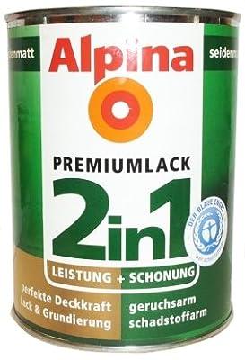 ALPINA 2in1 Buntlack & Grundierung 500 ml Laubgrün, Seidenmatt von Alpina bei TapetenShop
