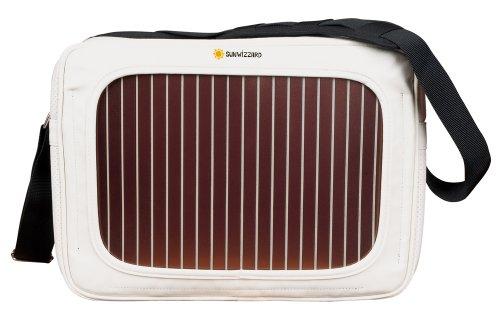 SunWizzard Solar Tasche SunWizzard-Solar Bag WHITE/BLACK, White/Black, 41 x 11 x 30 cm, SolarBag WHITE