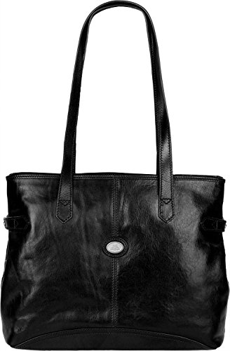 The Bridge Story Donna borsa tote pelle 37 cm schwarz, schwarz
