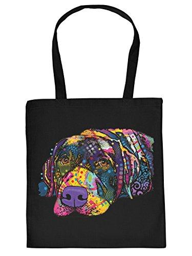 Pop Art Sackerl - Savy Labrador - Stofftasche mit Hunde-Motiv (Pop Art Halloween)