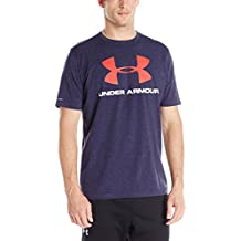 Under Armour Cc Sportstyle Logo Camiseta de Manga Corta, Hombre, Azul (Midnight Navy/Red), L