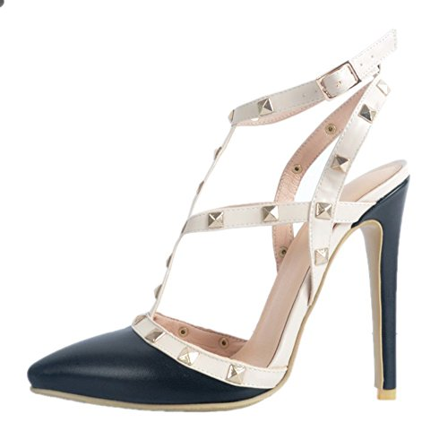 Kolnoo Damen Handgefertigte Slingback Spikes High Heel Party Fashion Sommer  Sandalen Schuhe Black ...