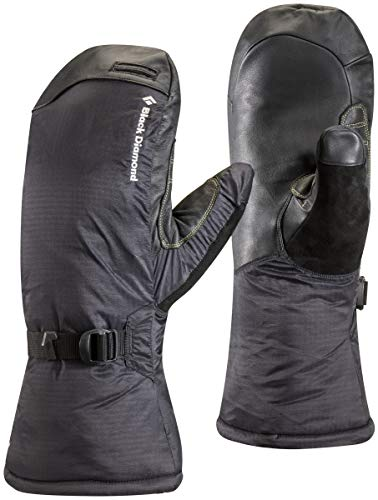 Black Diamond Super Light Mitts Handschuhe mit GORE-TEX-Einsatz / Wasserdichte Fausthandschuhe zum Bergsteigen mit griffiger Handfläche / Unisex, Black, Größe: XL -