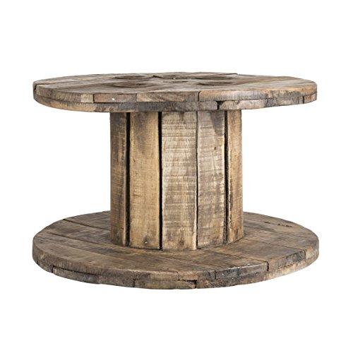 Ib Laursen - Kabeltrommel Unika Tisch aus Holz rund Ø 63cm (2351-00)