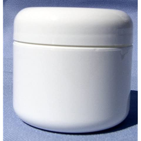 White Plastic Jar with Dome Lid 4 Oz - 12 Per Bag by Levine