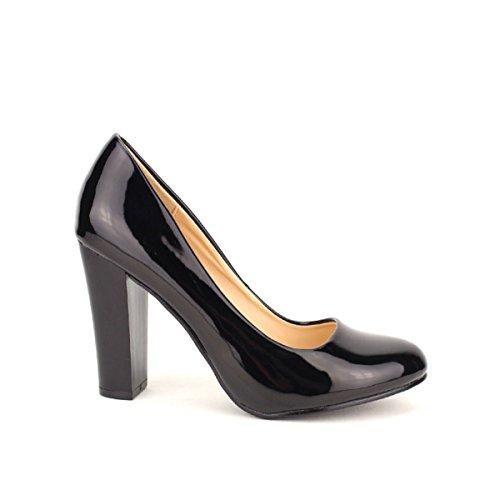 Cendriyon, Escarpin Noir Verni LILINA Chaussures Femme Noir
