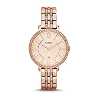 Fossil Jacqueline Women's Rose Gold Dial Stainless Steel Band Watch - ES3546