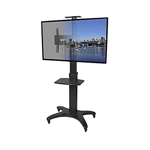 Kanto MTMA55PL Mobile TV Stand for Flat Screen Displays, Universal, Keyboard Tray and Top Shelf (A / V Per Montaggio A Parete Sistema)