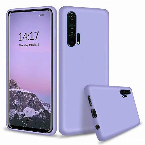kshop cover case per huawei honor 20 pro silicone liquido ultrasottile protettiva morbide tpu gel anti-scivolo/anti-graffio custodia - viola