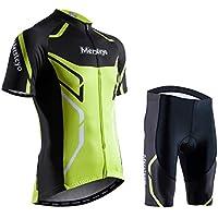 JohnJohnsen Mountain Bike Equitazione Vestito Chiaro Casual e Traspirante a Maniche Lunghe Top Mountain Bike Jersey per Gli Sport Body Bianco