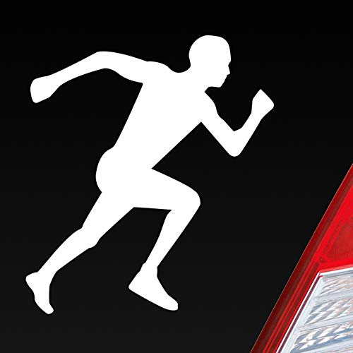 Auto Aufkleber in deiner Wunschfarbe Läufer Marathon Sprinten Jogger Run Laufen 10x9cm Autoaufkleber Sticker Folie