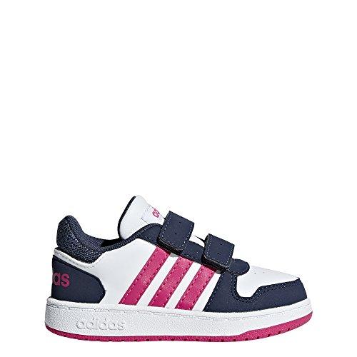 adidas Unisex Baby Hoops 2.0 CMF Sneaker, Weiß Ftwwht/Reamag/Trablu, 27 EU