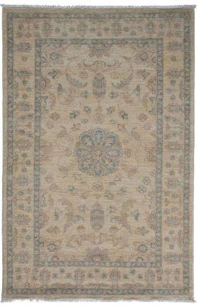 Solo Rugs Oushak Almira Orientalischer Teppich, handgeknüpft, ca. 90 x 150 cm, Champagnerfarben (15 X Persisch Teppich 12)