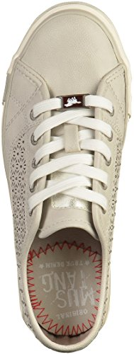 Mustang 1146-304 Womens Lace-Up Flats Beige