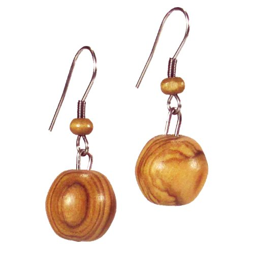 small-simple-round-olive-wood-earring-fair-trade