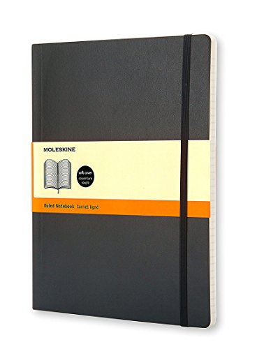 Moleskine Klassisches Notizbuch Extra Large, Softcover, liniert, schwarz
