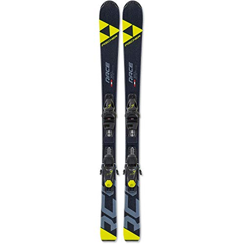 Fischer Kinder RC4 Race Jr. mit FJ7 GW AC SLR All-Mountain Ski schwarz 130