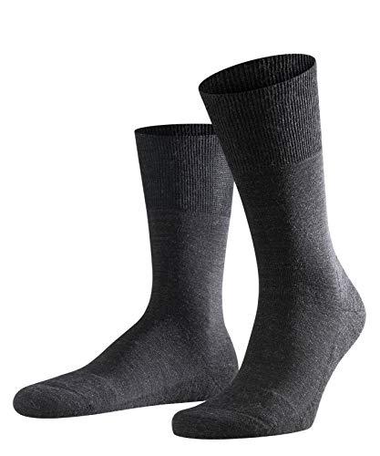 FALKE Herren Airport Plus Schurwolle Baumwolle Strümpfe Einfarbig 1 Paar Business Socken, Blickdicht, anthra.mel, 45-46 - Plus Dessous Von Größe Amazon