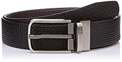 Lino Perros Mens Leather Belt (8903421293865_LMBE00275_105_Black)