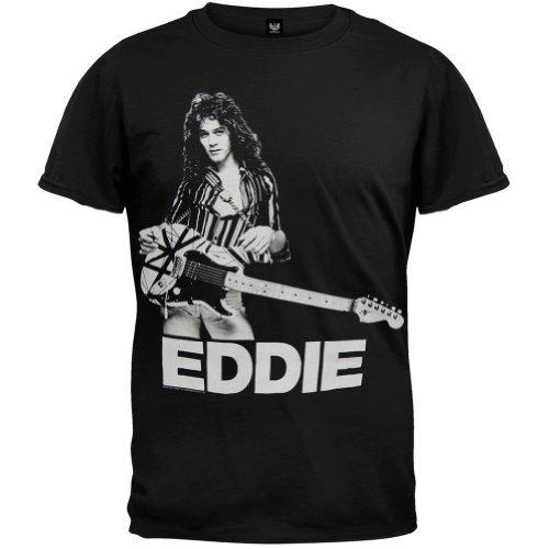 Eddie Van Halen - Photo Soft T-Shirt - Large Nero
