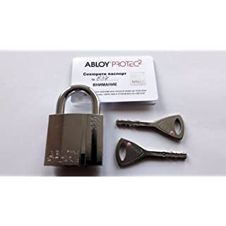 ABLOY PL330T PROTEC 2 Brass Padlock Shackle Clearance 25mm . 2 keys ID Card