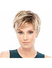 Pixie Cut perruque synthétique super perruque de cheveux courts pour les femmes Mixed Blonde 0102