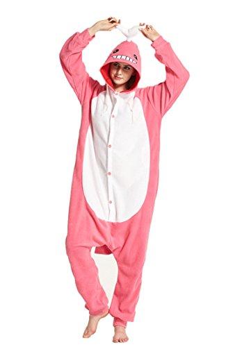 Honeystore Unisex Wal Kostüm Erwachsene Tier Jumpsuits Onesie Pyjamas Nachthemd Nachtwäsche Cosplay Overall Hausanzug Fastnachtskostüm Karnevalskostüme Faschingskostüm Kapuzenkostüm M
