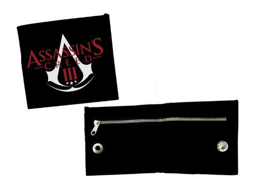 Preisvergleich Produktbild Assassin's Creed III Bi-Fold Portemonnaie / Geldbörse / Geldbeutel / Brieftasche mit Reißverschluss: ACIII Logo (Schwarz) Bioworld