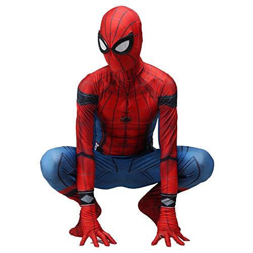sene Spiderman Kostüm Halloween Kostüm Cosplay Karneval Klassische Heimkehr Anzug Kinder Film Spandex Spiderman Onesies,Adult-XL ()