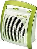 Imetec Eco Silent FH5-100 Termoventilatore Silenzioso a Basso Consumo Energetico, Maniglia Ergonomica, 3 Livelli di Temperatura, Termostato Ambiente, Verde