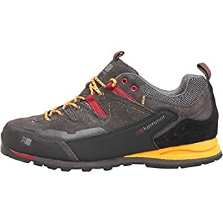 Designer ME Mens Karrimor KSB Tech Approach Hiking Shoes Charcoal/Yellow Guys Gents 3