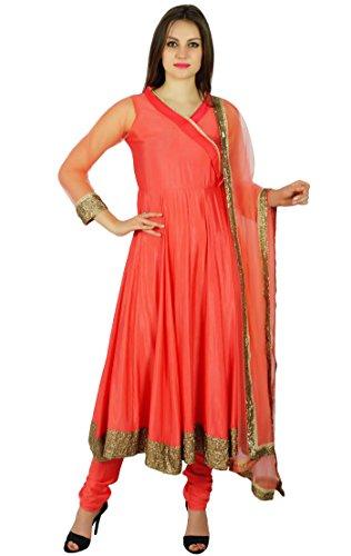 Atasi Frauen Ready-Made Angrakha Stil Anarkali Kurti Salwaar Kameez Mit Dupatta Indische Kleidung Nach Maß Kleid (Kameez Salwar Dupatta)