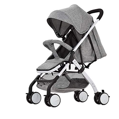 DGDG Kinderwagen, Verbesserte Mode Ultraleichte Tragbare Klapp Sitzen Liegend, Kinderwagen Mini Regenschirm Warenkorb