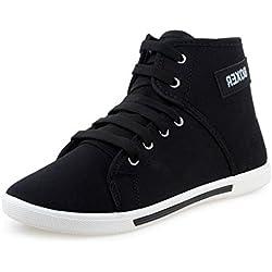 Scatchite Men's Boxer Black Canvas Sneaker-10